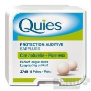 Quies Chrániče sluchu z prírodného vosku 8 parov