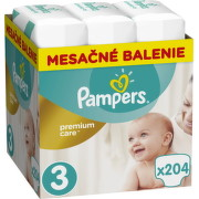 Pampers Premium Care 3 MIDI 6-10 kg 204ks