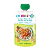 HiPP BIO Príkrm zeleninové rizoto, kuracie mäso s hráškom 130 g