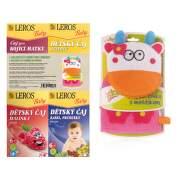 LEROS Baby 4 čaje + DARČEK maňuška na umývanie