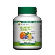 BIO Pharma vláknina 600 mg + chróm 200 mcg 90 + 30 tabliet ZADARMO