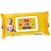 QUEEN Hygienické utierky baby wipes s vitamínom E 80 kusov