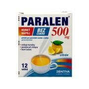 PARALEN Horúci nápoj bez cukru 500 mg 10 vreciek