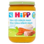 HiPP Príkrm mrkva s ryžou a teľacím mäsom 190 g