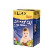 LEROS Baby detský čaj na kašeľ a priedušky 20 x 1,5 g