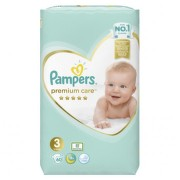 PAMPERS Premium care 3 Midi 60 kusov