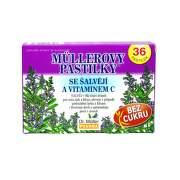 DR. MÜLLER Pastilky so šalviou a vitamínom C 36 kusov