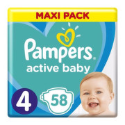 PAMPERS Active baby maxi pack 4 Maxi 58 kusov