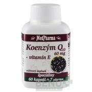 MedPharma KOENZÝM Q10 60 mg + Vitamín E cps 60+7 zdarma