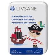 LIVSANE Náplasť detská prúžky Pirát 20ks