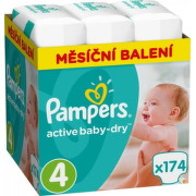 PAMPERS Active baby 4 maxi 9-14 kg 174 kusov