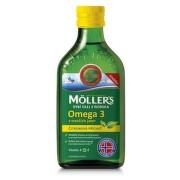MOLLER´S Omega 3 rybí olej citrónová príchuť 250 ml