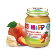 HiPP Príkrm 100% ovocie jablká, banány a broskyne 125 g