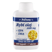 MedPharma RYBÍ OLEJ 1000 mg - EPA, DHA tbl 100+7 zdarma