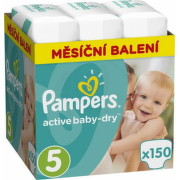 PAMPERS Active baby 5 junior 11-16 kg 150 kusov