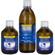 PHARMA ACTIV Set aktívne minerály extra 2x300 ml + koloidné striebro Ag100 10ppm 500 ml