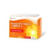 NOVENTIS Vitamín D3 1000 IU + Omega-3 60 kapsúl
