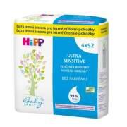 HiPP BabySanft čistiace vlhčené obrúsky 4 x 52 kusov