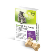 DRONTAL Dog flavour 150/144/50 mg tablety 2 tablety