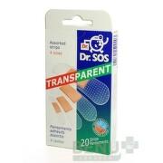 Dr. SOS Transparent náplasť 1x20 ks 20ks