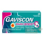 GAVISCON DUO EFEKT žuvacie tablety tbl mnd 48