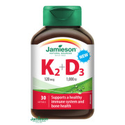 JAMIESON Vitamíny K2 120 µg + D3 1000 IU 30 kapsúl