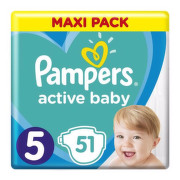 PAMPERS Active baby maxi pack 5 Junior 51 kusov