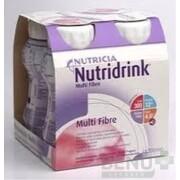 NUTRIDRINK MULTIFIBRE jahodová príchuť 4x200 ml sol 4x200ml