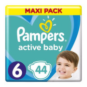 PAMPERS Active baby maxi pack 6 Extra Large 44 kusov