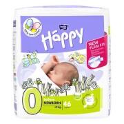HAPPY Newborn plienky 0-2 kg 46 kusov