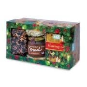 FYTO Darčeková kazeta Vianoce Vianočný sypaný čaj 100 g + Vianočný porciovaný čaj 40 g + pastovaný včelí med so škoricou 250 g