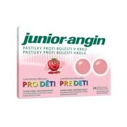 Junior-angin pastilky pre deti s jahodovou príchuťou 1x24 ks pas ora 1x24ks