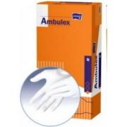 Ambulex rukavice LATEXOVÉ veľkosť M 1x100ks