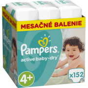 PAMPERS Active baby 4+ maxi 10-15 kg 152 kusov