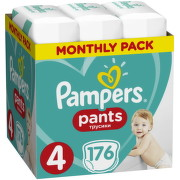 PAMPERS Pants 4, 9-15 kg 176ks