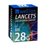 Wellion LANCETS 28G - Lanceta sterilná 0,37mm 100ks