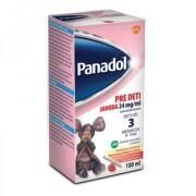 PANADOL pre deti s príchuťou jahoda 24 mg/ml 100 ml