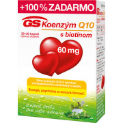 GS Koenzým Q10 60 mg cps 30+30 zdarma