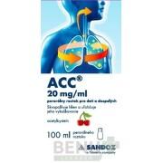 ACC 20 mg/ml perorálny roztok pre deti a dospelých sol por 100ml