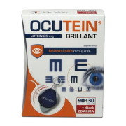 OCUTEIN Brillant Lutein 25 mg 90 + 30 tabliet ZADARMO