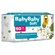 BABYBABY Soft Detské vlhčené obrúsky zo 100% bavlny 60 kusov