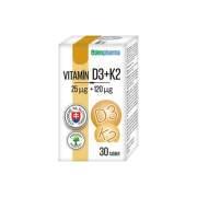 EDENPHARMA Vitamín D3 + K2 30 tabliet
